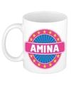Amina naam koffie mok beker 300 ml