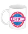 Angeline naam koffie mok beker 300 ml