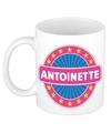 Antoinette naam koffie mok beker 300 ml