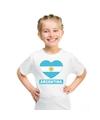 Argentinie hart vlag t shirt wit jongens en meisjes