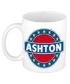 Ashton naam koffie mok beker 300 ml