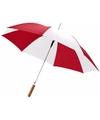 Automatische paraplu rood wit 82 cm