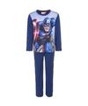 Avengers fleece pyjama blauw voor jongens