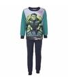 Avengers fleece pyjama groen voor jongens