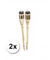 Bamboe tuinfakkels set 2 stuks 61 cm