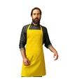 Barbecue keukenschort voor volwassenen geel