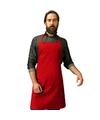 Barbecue keukenschort voor volwassenen rood