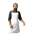 Barbecue keukenschort voor volwassenen wit