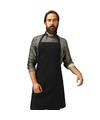 Barbecue keukenschort voor volwassenen zwart