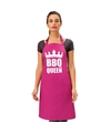 Bbq queen barbecueschort keukenschort roze dames