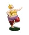 Beeld dansende dikke dame rode broek 12 cm