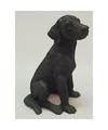Beeldje labrador zwart 12 cm