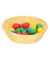 Beige paasmandje met eieren 25 cm