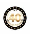 Bierviltjes zwart met goud 40 jaar