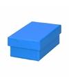 Blauw cadeaudoosje 10 cm rechthoekig