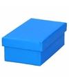 Blauw cadeaudoosje 13 cm rechthoekig