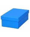 Blauw cadeaudoosje 15 cm rechthoekig