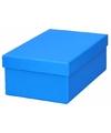 Blauw cadeaudoosje 17 cm rechthoekig
