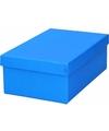 Blauw cadeaudoosje 19 cm rechthoekig
