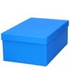Blauw cadeaudoosje 23 cm rechthoekig