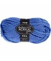 Blauw maxi acryl garen 35 meter
