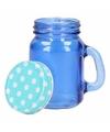 Blauw shot glas met deksel