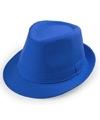 Blauw trilby verkleed hoedje voor volwassenen