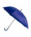Blauwe automatische paraplu 107 cm