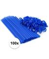 Blauwe ballonstaafjes 100 stuks