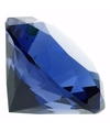 Blauwe nep diamant 5 cm van glas