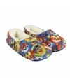 Blauwe paw patrol pantoffels met pluche voor meisjes