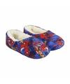 Blauwe spiderman pantoffels met pluche voor jongens