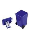 Blauwe vuilnisbak puntenslijper 6 cm