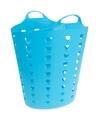 Blauwe wasmand flexibel 60 liter