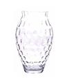 Bloemenvaas glas met reli f 35 cm