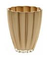 Bloemvorm vaas goud glas 17 cm
