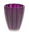Bloemvorm vaas paars glas 17 cm