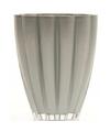 Bloemvorm vaas zilver glas 17 cm