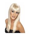 Blonde glamour pruik met pony