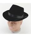 Blues brothers hoed zwart voor volwassenen