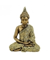 Boeddha beeld goud 24 cm van polystone
