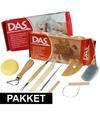 Boetseer basis pakket met klei en gereedschap 10 delig