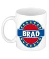 Brad naam koffie mok beker 300 ml