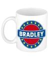 Bradley naam koffie mok beker 300 ml