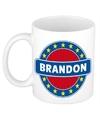 Brandon naam koffie mok beker 300 ml