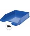 Brievenbakjes blauw a4 formaat 10 stuks