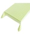 Buiten tafelkleed tafelzeil groene ruit 140 x 240 cm