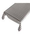 Buiten tafelkleed tafelzeil zwarte ruit 140 x 240 cm