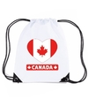 Canada hart vlag nylon rugzak wit