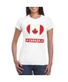 Canada hart vlag t shirt wit dames